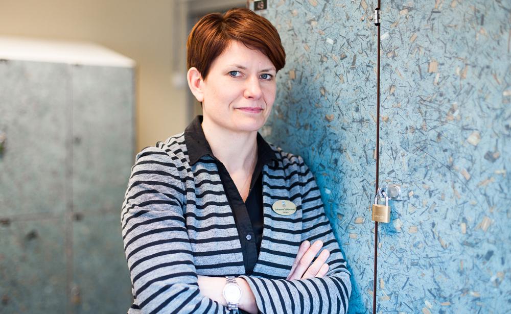 Johanna Söderman vid Stigslunds skola. Foto: Irene Danielsson