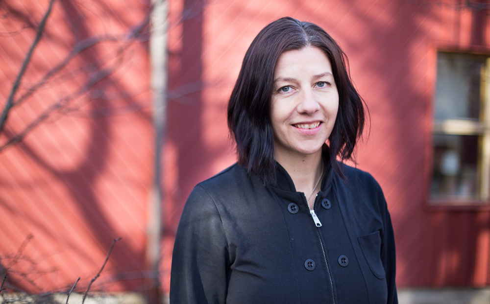 Marie Wallmark vid Vikingaskolan i Gävle. Foto: Irene Danielsson