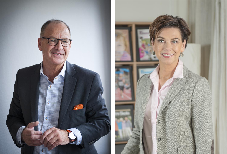 Bo Jansson, ordförande på Lärarnas Riksförbund (Foto: Gustaf Andersson) och Sofia Larsen, för- och grundskolechef på Academedia. (Foto: Lena Dahlström)
