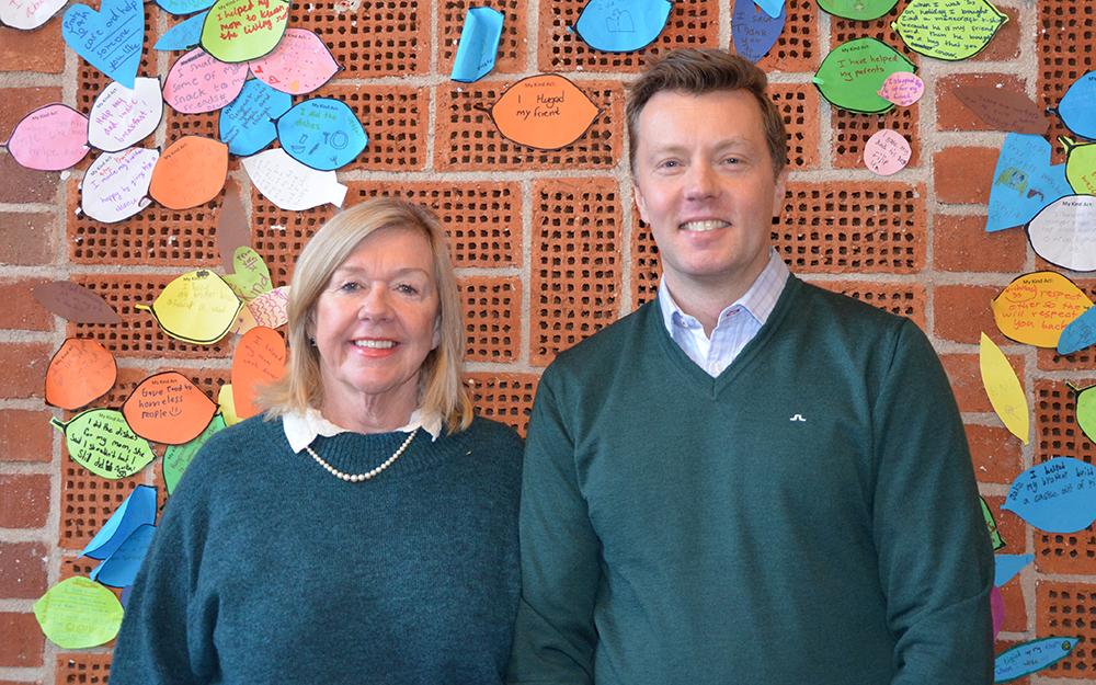 Marie Burman, vice vd och Peter Bergström, vd på Futuraskolan.