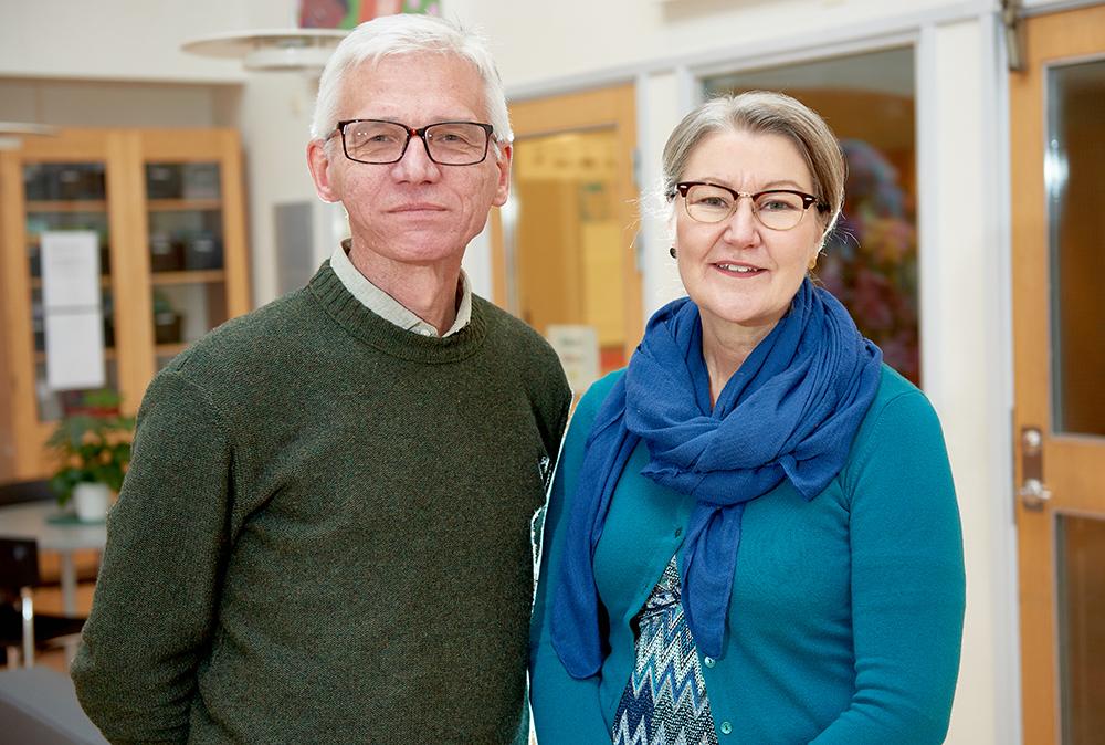 Matz Ingvarsson, verksamhetschef för Helsingborgs stads skolor och Cissi Warntoft, rektor för Drottninghögsskolan i Helsingborg. Foto: CarlMagnus Johansson