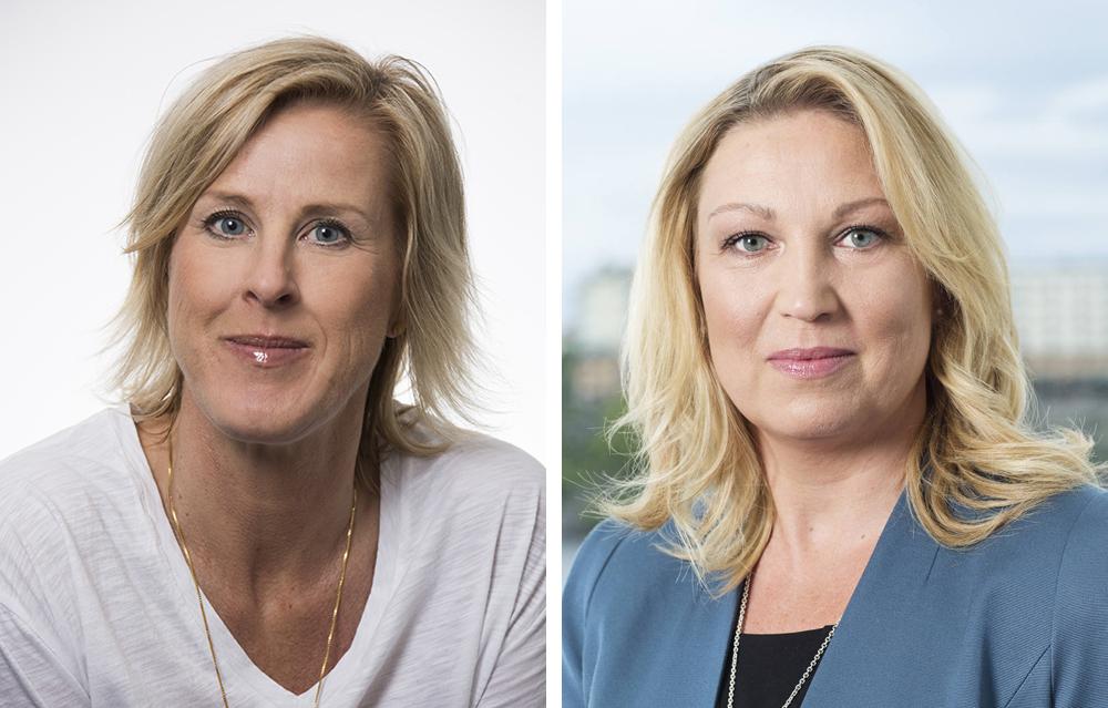 Åsa Fahlén, ordförande i Lärarnas Riksförbund (Foto: Elisabeth Ohlson Wallin) och Johanna Jaara Åstrand, ordförande i Lärarförbundet (Foto: Peter Jönsson).