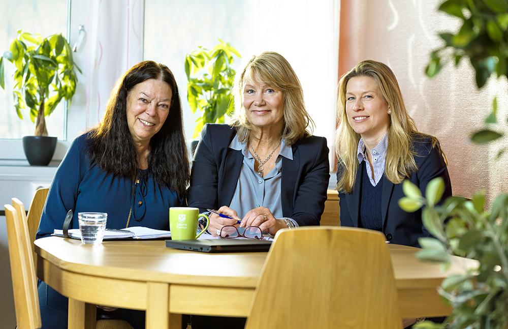 Marsella Qvicker, Eva Lindkvist och Katarina Sweding i Salems kommun. Foto: Gonzalo Irigoyen