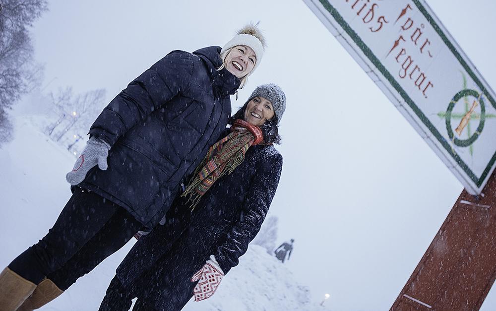 Lina Stickå, förstelärare och Inga-Lena Spansk, skolchef. Foto: Sara Lansgren
