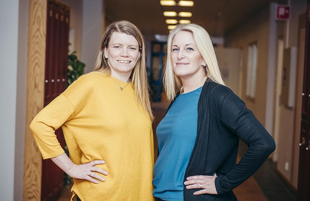 Lotten Eklöf-Sandell och Malin Linderson, förstelärare i Vimmerby. Foto: Daniel Nestor