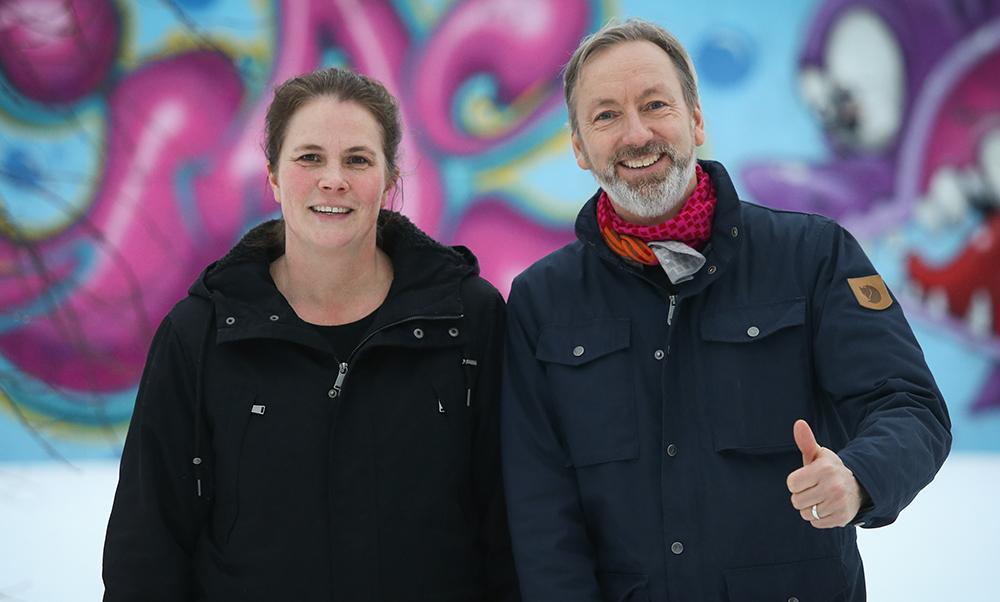 Maria Norén och Dirk Fischer, lärare i Kalix. Foto: Elisabeth Gustavsson / STARK fotografi & design