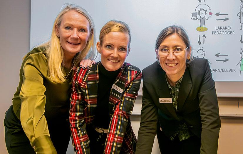 Karin Servin Karlsson, rektor på Hjärups och Tottarps skola, Anna Nordén, lärare på Stanstorpsskolan och Ann Edvik, biträdande utbildningschef i Staffanstorp. Foto: Jan Nordén