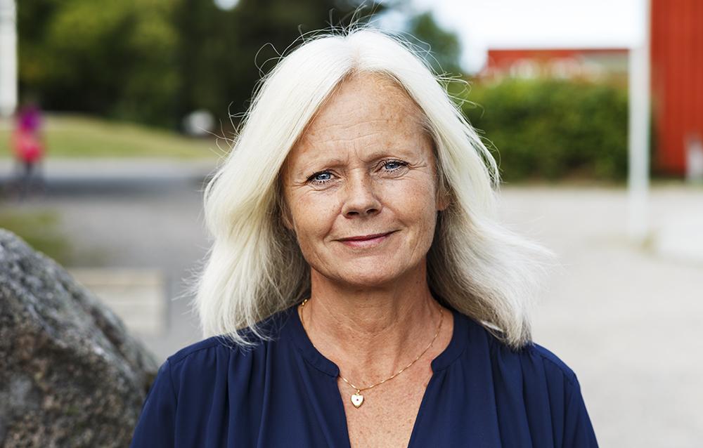 Karin Järleby, rektor på Täby Friskola. Foto: Jakob Fridholm
