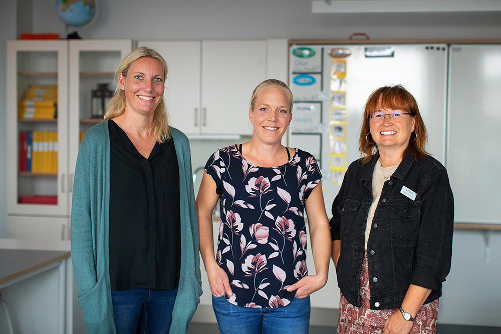 Helena Andersson, lärare, Emelie Hildingsson, lärare och Gunnel Petersson, specialpedagog på Förslövs skola. Foto: Mette Ottosson
