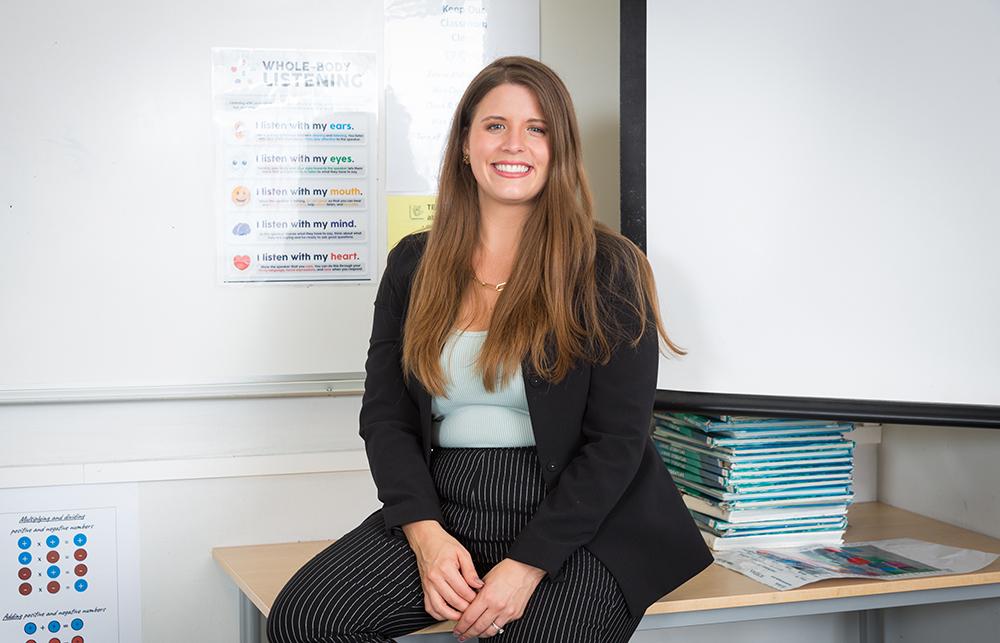 Melissa Nilsson, lärare i engelska på IES i Borås. Foto: Ulf Ekström