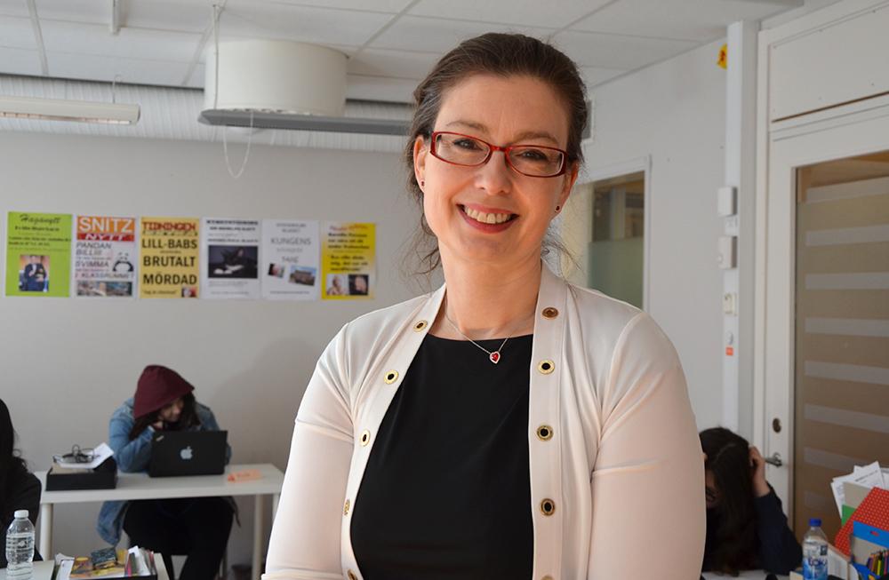 Annika Hanberger, rektor för Snitz grundskolor och gymnasium i Stockholm.