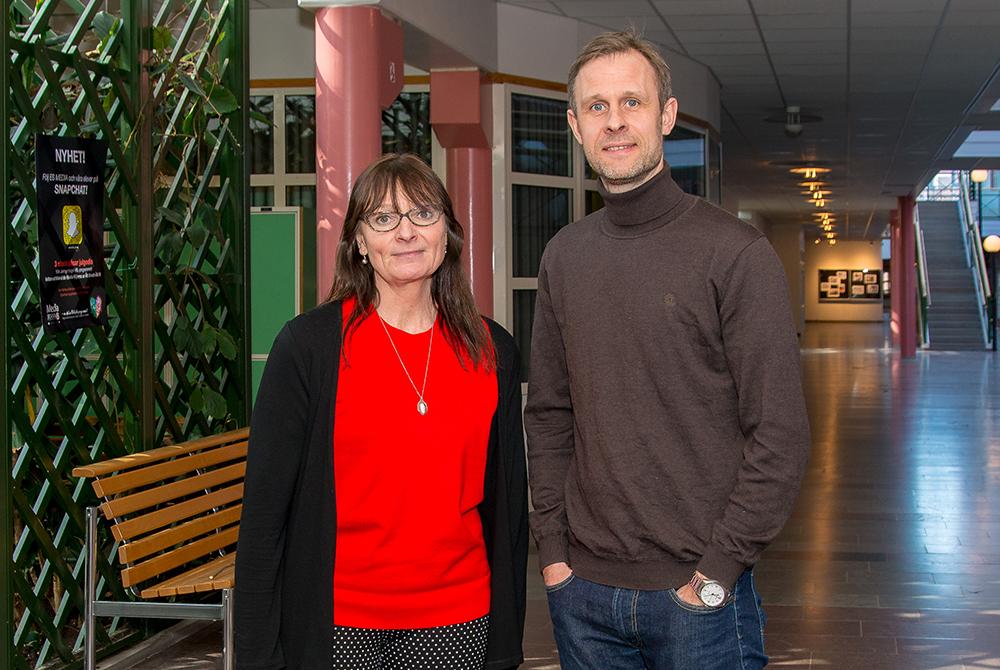 Marie Wolke, Jenny Nyströmsskolan och Daniel Nilsson, Stagneliusskolan. Foto: Magnus Johnsson, Fototjänster i Kalmar