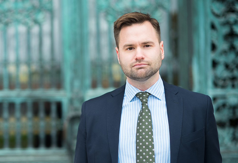 Erik Bengtzboe, talesperson i skolfrågor för Nya Moderaterna. Foto: Fredrik Wennerlund