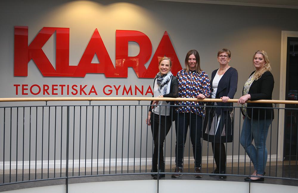 Från vänster: Pauline Liljegren, förstelärare, Emma Blomdahl, förstelärare, Viveca Johansson, förstelärare och Jennie Arpfjord, rektor.
