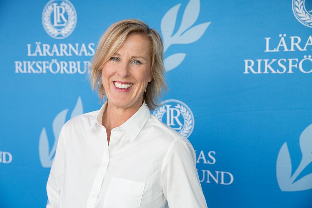 Åsa Fahlén, förbundsordförande för Lärarnas riksförbund. Foto: Rikard Westman