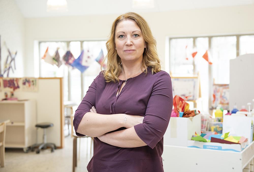 Johanna Jaara Åstrand, ordförande Lärarförbundet. Foto: baraBild
