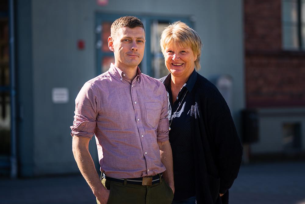 Tony Ivarsson och Annika Löfgren, rektorer på Christian 4:s gymnasium i Kristianstad. Foto: Daniel Larsson
