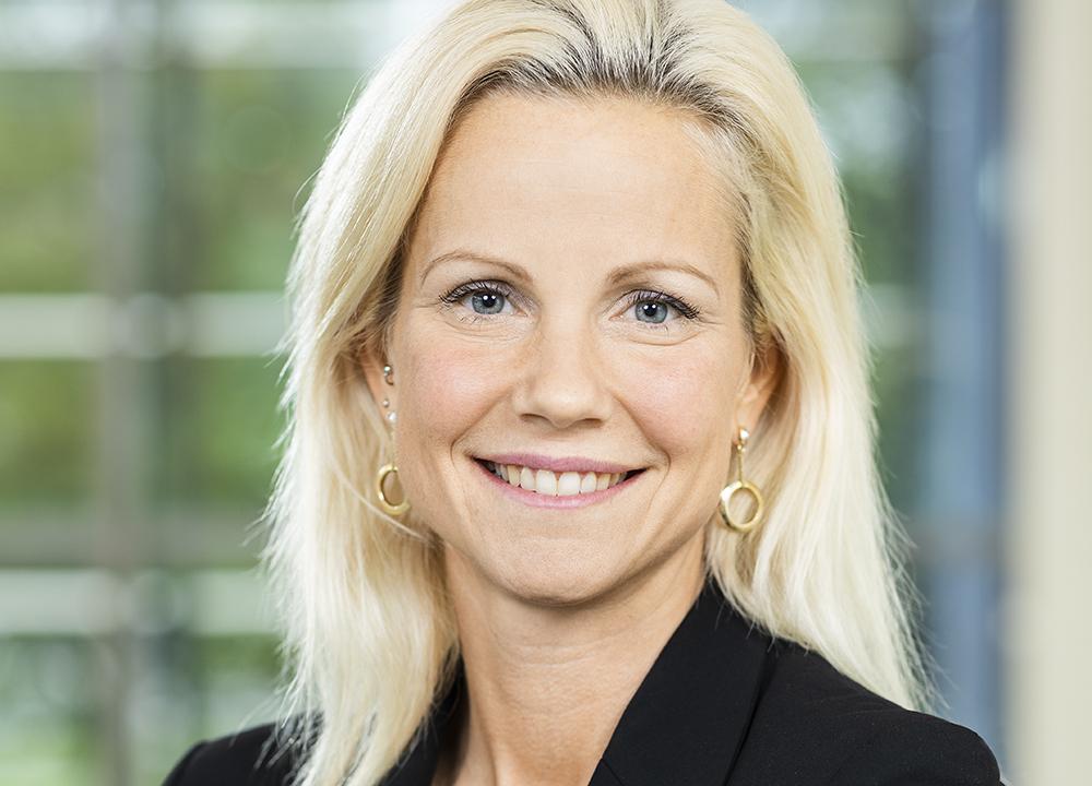 Camilla Ahlin, gymnasiechef på Hulebäcksgymnasiet i Härryda utanför Göteborg. Foto: Anna Sigvardsson Högborg