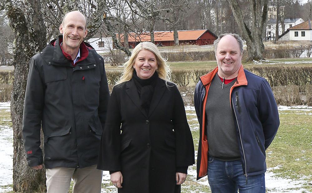 Christer Norström, Lotta Henrysson och Fredrik Jansson. Foto: John Ash Redforsen
